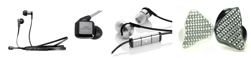 various earphones