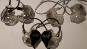 Ultimate Ears In-Ear Reference Monitor, JH Audio JH16 and M-Fidelity SA-43