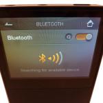 Astell & Kern AK120 Bluetooth screen