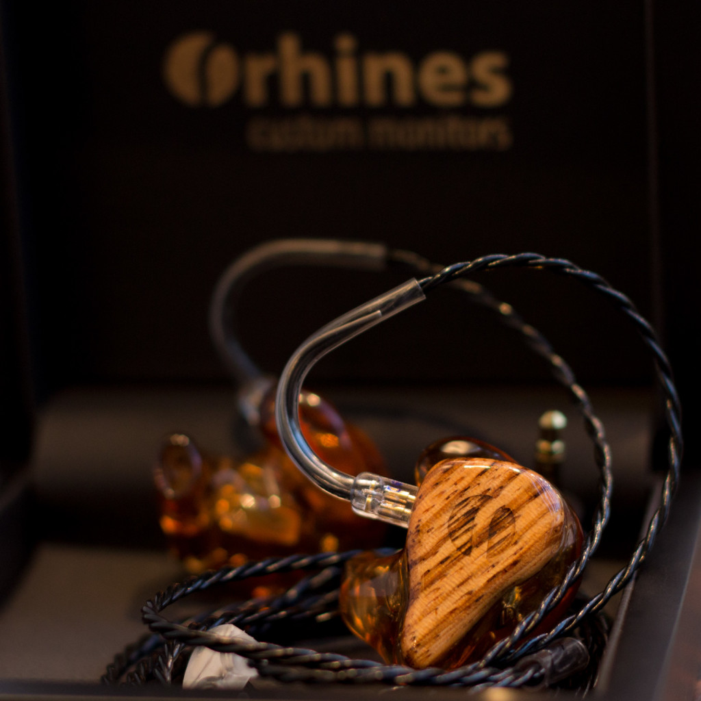 Rhines Custom Monitors Stage 5 with Zebrano wood faceplate